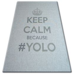 CARPET SIZAL FLOORLUX 20276 YOLO silver / black