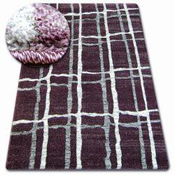Kulatý koberec SHADOW 9359 šeřík / bílá