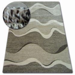 Kulatý koberec SHADOW 8649 hnědá / světle béžová