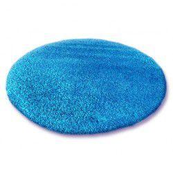 Koberec kruh SHAGGY 5cm modrý