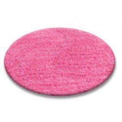 Килим колесо SHAGGY 5 см рожевий