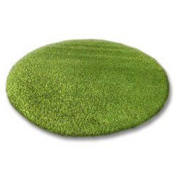 Carpet round SHAGGY 5cm green