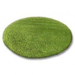Koberec kruh SHAGGY 5cm zelený