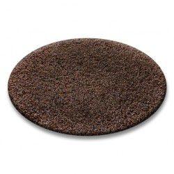Covor rotund Shaggy 5cm maro