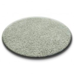 Carpet round SHAGGY 5cm grey