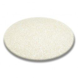 Carpet round SHAGGY 5cm cream