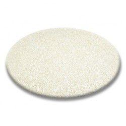 Teppich rund SHAGGY 5cm cremig