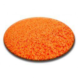 Килим колесо SHAGGY 5 см помаранчевий