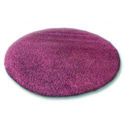 Килим кръг SHAGGY 5cm люляково