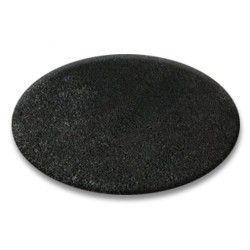 Килим колесо SHAGGY 5 см чорний