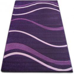 Килим FOCUS - 8732 темний фіолетовий хвилі лінії