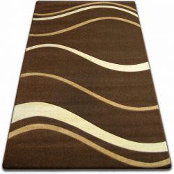 Килим FOCUS - 8732 коричневий хвилі лінії венге какао
