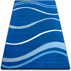 Alfombra FOCUS - 8732 azul Olas Líneas