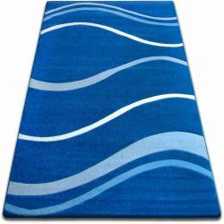 Teppich FOCUS - 8732 blau WELLEN LINIEN
