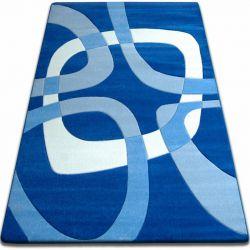 Килим FOCUS - F242 синій квадрати