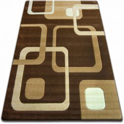 Carpet FOCUS - F240 wenge SQUARES cacao brown