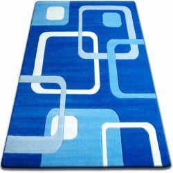 Килим FOCUS - F240 синій квадрати