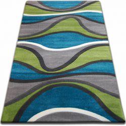 Carpet FOCUS - F421 turquoise WAVES green grey