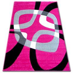 Teppich PILLY H203-8405 - Fuchsie/schwarz