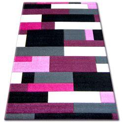 Teppich PILLY H201-8403 - schwarz/purpurrot