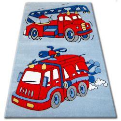 Килим дитячий HAPPY C190 синій Пожежна машина