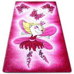 Koberec pro děti HAPPY C123 růžový Víla