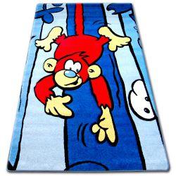 Teppich für Kinder HAPPY C176 blau Affe