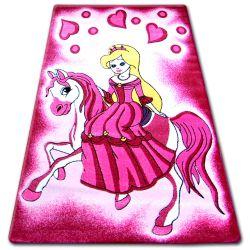 Koberec pro děti HAPPY C187 růžový Princezna