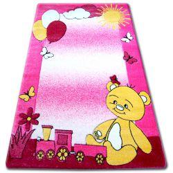 Dywan dziecięcy HAPPY C210 różowy Miś