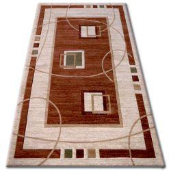 Килим heat-set KIWI 3419 коричневий