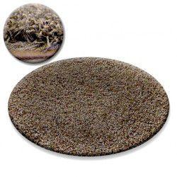 Tappeto cerchio SHAGGY GALAXY 9000 chiaromarrone