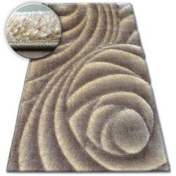 Carpet Shaggy SPACE 3D B217 l.brown
