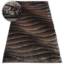 Carpet Shaggy SPACE 3D B222 d.brown