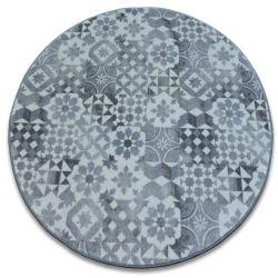 Maiolica szőnyeg kör szürke lisszaboni stílus LISBOA