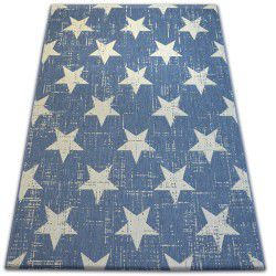 Килим шнуровий SIZAL FLAT 48648/591 зірки